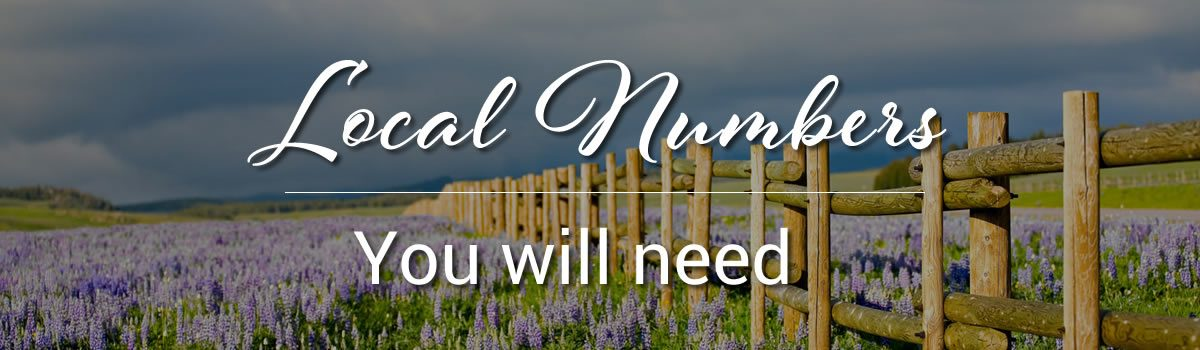 Important Phone Numbers for Natrona County